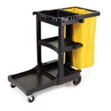 Janitor Cart Blue 6173